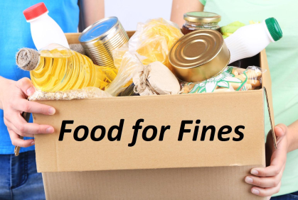 Food for Fines May 1st - 31st