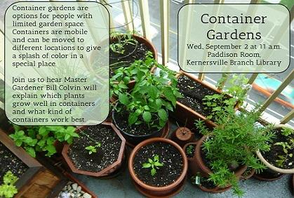 Container Gardening at Kernersville Branch Library