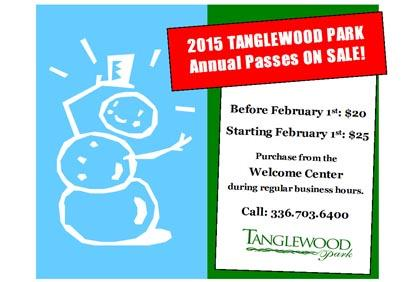 Tanglewood Park Annual Passes: On Sale for $20!