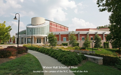 Watson Hall School of Music - located on the campus of the NC School of the Arts